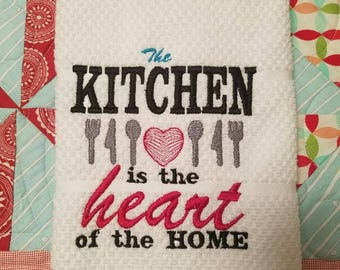 The Kitchen is the Heart Dish Towel