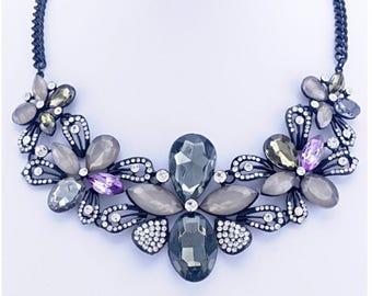Darcie - Floral statement necklace