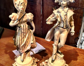 Vintage Pair of French Statues.