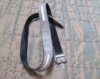 VINTAGE GIANNI VERSACE Italy 2-Tone Suede Leather Men's Belt Sz-85-34