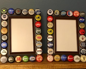 Beer Bottle Cap Picture Frame
