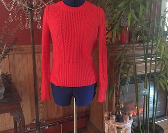 Size Small Coral ribbed sweater