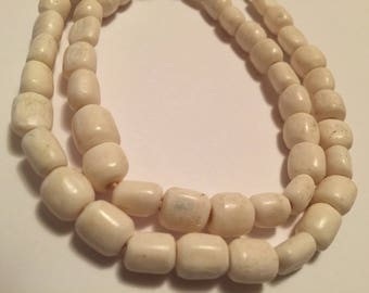 African White Bone Beads Kenya I African Trade Beads I Trade Beads I Venatian Antique Beads