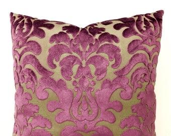 Luxury Plum Velvet Designer Pillow Cover, Plum Pillows, Velvet Pillow, Throw Pillow, Decorative Pillow, Cushions, Plum Velvet Pillow Covers
