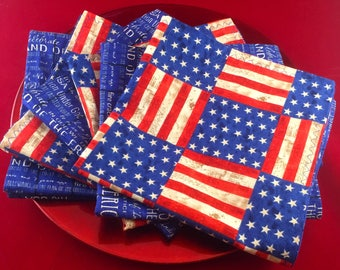 Napkins for Patriotic Holidays Great To Have on Hand:  Presidents Day, Memorial Day, Flag Day, Independence Day, Patriots Day, Veterans Day