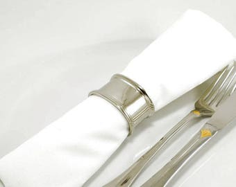 8 Silver Plated Oval Napkin Rings