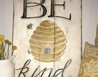 Be Kind - Hand Painted Art