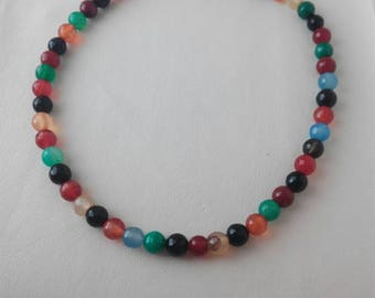 Natural and alpaca tourmaline necklace. Combination of different tourmaline colors.