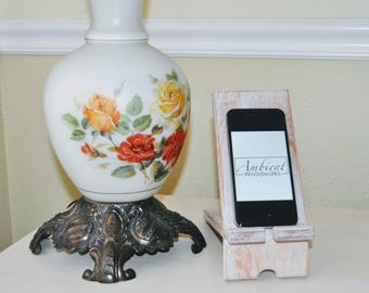 SALE - iPhone Stand, iPad Stand, Wood Stand, Wood Smartphone Stand, Wooden Dock, Table Stand, Docking Station, Gift, Rustic