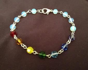 rainbow bracelet crystal