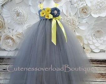 40% OFF ALL ORDERS-Gray Flower Girl Tutu Dress-Gray Flower Girl Tutu-Gray Girl Tutu-Gray Tutu-Gray Baby Tutu.Gray Wedding Tutu.Gray dress