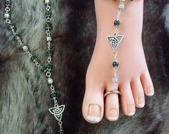 Barefoot sandals green/white