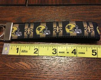 NFL New Orleans Saints Key Chain/Fob Wristlet