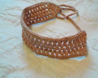 Knit Choker Pink Tie Back