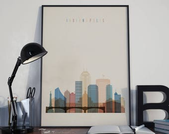 Indianapolis Art Watercolor Indianapolis City Wall Art Indianapolis Print Multicolor Indianapolis Poster Wall Decor Indianapolis Photo Decor