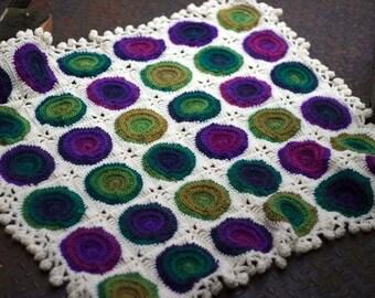 Retro Circles Crochet Baby Blanket