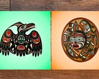 Native American Symbols Coasters