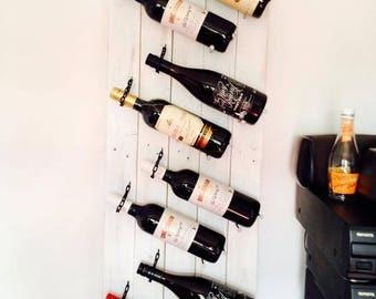 Rustic Wine Bottle Rack-White
