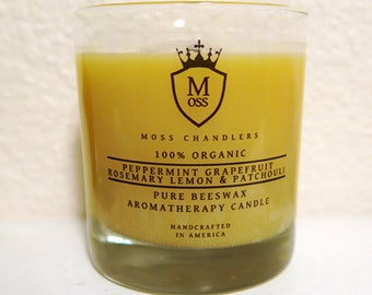 100% Organic, Non Toxic, Scented, Beeswax Aromatherapy Candle