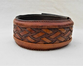 Ideal Surf Brown Leather Cuff Bracelet