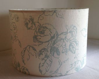 Pale Blue English Rose, Handmade Ceiling Lampshade