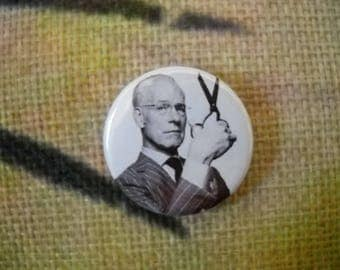 "Tim Gunn, Project Runway inspired button, badge, pin, 1"" (25mm) fandom, gift, memorabilia, present, souvenir"