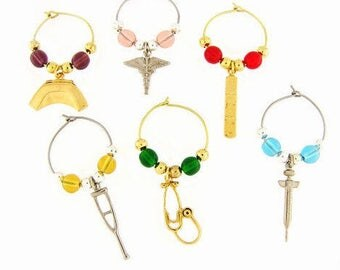Medical Drink Charms, Wine Glass Charms