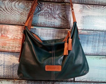 Leather purse, leather bag, leather Hobo bag, womens bag, leather shoulder bag, Leather bag. Small. Leather shoulder bag.