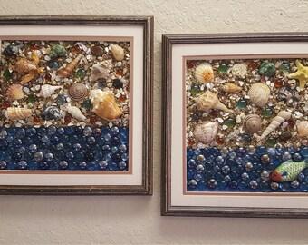 Seashell Wall Decor (2 Frames)