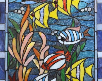 Stained Glass Fish Cross Stitch Pattern***LOOK***