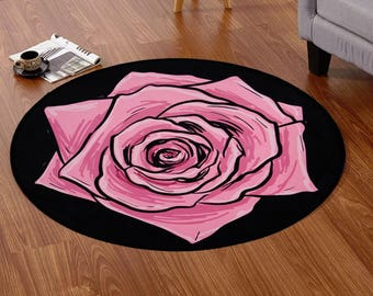 Rose Daisy Pansies Floor Mat