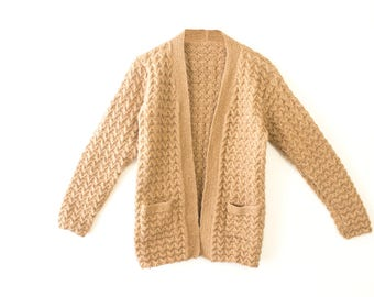 Beige Knitted Sweater/Cardigan