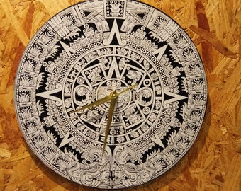 aztec calendar clock, end times prophecy, mayan calendar, 12/21/2012, ,  , ancient knowledge, new age clock, new age design,