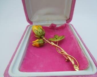Brooch vintage flower