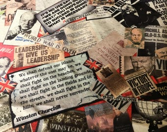 Union Jack fabric / British themed fabric