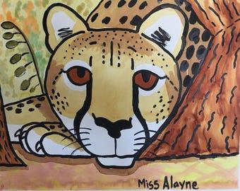 Cheetah Water-Color