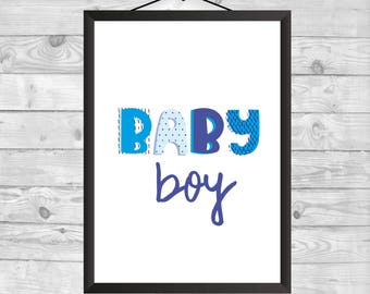 Baby Boy Wall Art, Nursery Decor, Baby Gift, Nursery Wall Art, Baby Boy Printable, Kids Decor, Printable Nursery Art, Kids Decor, Printable