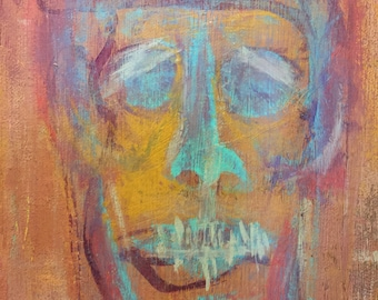 """Abstract face 12""""x9"""""""