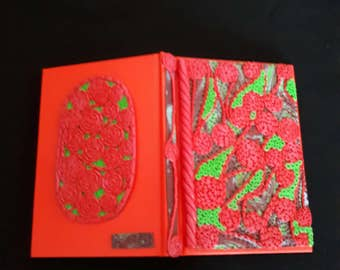 OOAK Hand Crafted Polymer Clay Covered Journal