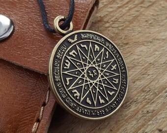 Protection Amulet, talisman amulet, Necklace,Pentagram,magical pentacle of Solomon