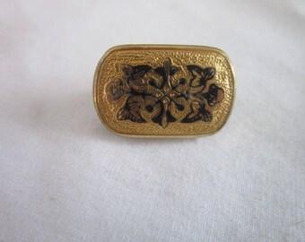 Antique Victorian Gold or Gold Filled Engraved Floral Design Brooch Pin