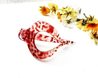 Hair Jaw Claw Clip Wine Red Marsala Leave French Clip Acrylic Plastic Celluloid Acetate Accessories Jewelry Hair Bun Holder Maker Barrette