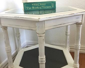 Vintage Farmhouse Shabby Chic Side Table