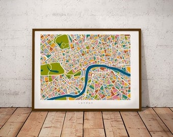 London, print, printable, london map, map, city, citymap, graphic design, uk