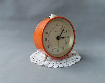 "Vintage Desk Alarm Clock ""Vityaz"" Working Vintage Clock Mechanical Alarm Clock Farmhouse Decor Soviet Wind Up Alarm Clock"