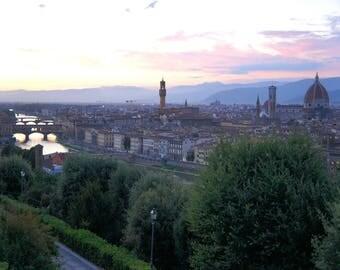 Florence print, Florence sunset, Florence photo, Florence art, Florence download, Florence river, Italy decor, Italy art, Italy print, Italy