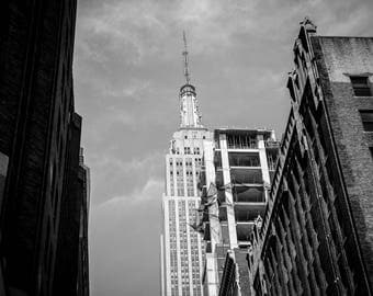 "Digital Art Printable original art street photography Manhattan Empire State building 300dpi 24x36 and 8x12  ""MANHATTAN CORNER"""