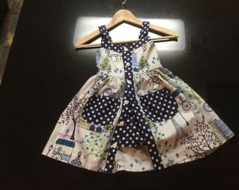 Girls dress/shorts paris print size 3-8