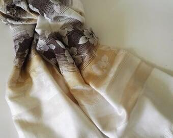 Hibiscus design shawl/scarf