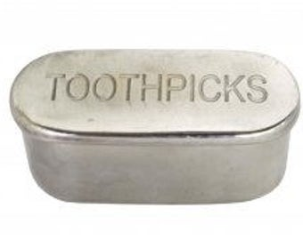 Toothpick Holder - Metal (Vintage Repro.)